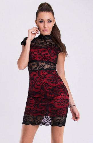 EMAMODA DRESS - RED 19005-2